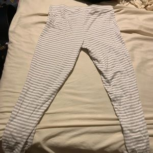 Other - White and grey striped leggings